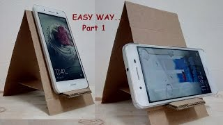 DIY phone stand, How to make a phone stand from cardboard. Part 1