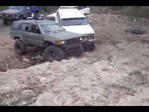 jeep and chevy 4x4 crawling up a hill and toyota kicks ass