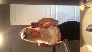 getlinkyoutube.com-White Lace Top Black Skirt   OOTD