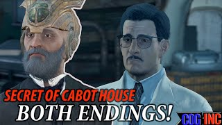 getlinkyoutube.com-Fallout 4 - Secret of Cabot House Both Endings (Freeing and Killing Lorenzo) Lorenzo's Artifact Gun