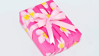 getlinkyoutube.com-Japanese Pleats Gift Wrapping ~Basic Pleating Design~
