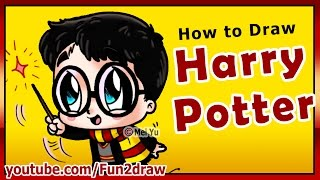 getlinkyoutube.com-How to Draw Super CUTE Harry Potter - Fun2draw style