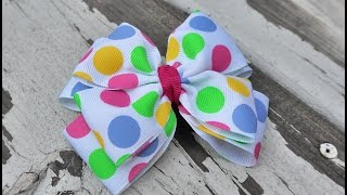 getlinkyoutube.com-Pinwheel Hair Bow Tutorial with Artemis in Love
