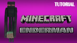 getlinkyoutube.com-Tutorial Enderman en Plastilina | Minecraft | Enderman Clay Tutorial
