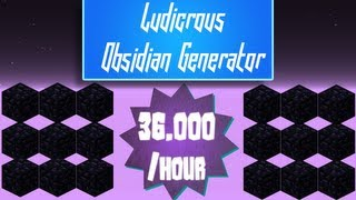 getlinkyoutube.com-Minecraft - Ludicrous Obsidian Generator [36,000/hr]