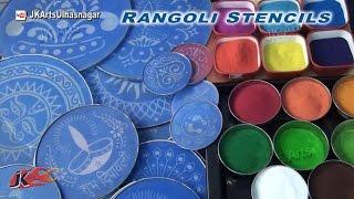 getlinkyoutube.com-How to use Rangoli Stencils   JK Arts 773