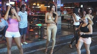 Pattaya Walking Street Nightlife Freelancer, Ladyboys and GoGo Girls