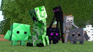 getlinkyoutube.com-Minecraft Escola Monstro #62 - Blocos com Vida !! Monster School