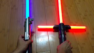getlinkyoutube.com-FORCE FX Lightsaber Comparison: Luke Skywalker vs. Kylo Ren