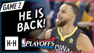 Stephen Curry RETURNS, Full Game 2 Highlights vs Pelicans 2018 Playoffs WCSF - 28 Pts off the Bench!