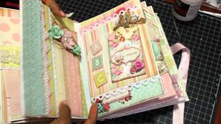 getlinkyoutube.com-2015 Baby Girl Mini Album Scrapbook *SOLD*