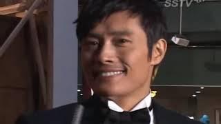 getlinkyoutube.com-Lee Byung Hun-Kim Tae Hee Interview + other Iris stars @Red Carpet [31/Dec 2009]