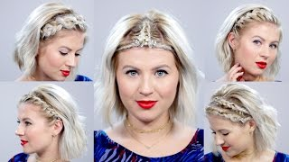 getlinkyoutube.com-5 Braided Headbands For Short Hair | Milabu