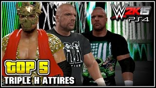 getlinkyoutube.com-WWE 2K15 - Triple H Top 5 Entrance Attires - Community Creations