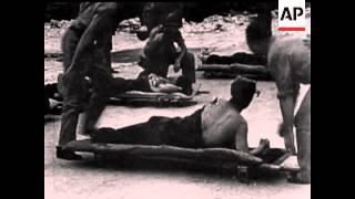 BOMBING OF NAURU ISLAND - NO SOUND