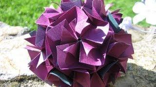 getlinkyoutube.com-Origami ⊰♥⊱ Bella ⊰♥⊱ Kusudama