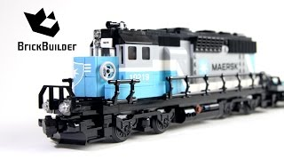 getlinkyoutube.com-Lego Trains 10219 Maersk Train - Lego Speed Build