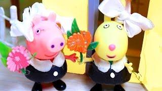 getlinkyoutube.com-Свинка Пеппа Peppa Pig. Пеппа, Сьюзи и Ребека идут  в школу
