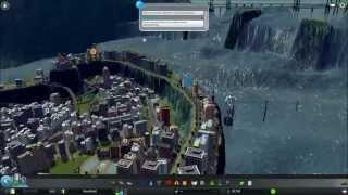 getlinkyoutube.com-Cities Skyline - Tsunami - Massive Dam -