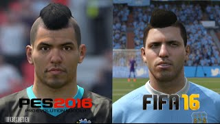 getlinkyoutube.com-PES 2016 vs FIFA 16 Manchester City Faces Comparison