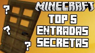 getlinkyoutube.com-MINECRAFT - TOP 5 ENTRADAS SECRETAS PARA TU CASA