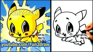 getlinkyoutube.com-How to Draw Pokemon - Pikachu - Fun2draw style
