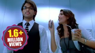 Tollywood Top Kiss Scene - Allu Arjun And Kajal Agarwal Kiss Scene In Lift...