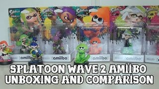 [Amiibo] Splatoon Wave 2 - Unboxing and comparison