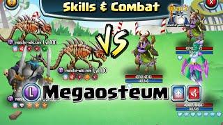 getlinkyoutube.com-Megaosteum [Legend, Fire] - Skills & Combat - Monster Legends