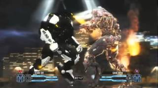 getlinkyoutube.com-Pacific Rim The Game. Eva 01 vs Gundam Unicorn