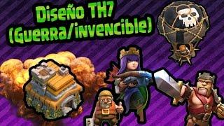 getlinkyoutube.com-Diseño Para guerra TH7 || (Invencible/#TheBestBase) || MagicPro COC