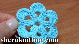 getlinkyoutube.com-Crochet 6-Petal Flat Flower Tutorial 27 Patterns Crochet Fiore