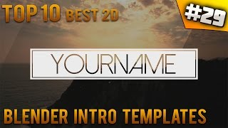 getlinkyoutube.com-TOP 10 BEST Blender 2D intro templates #29 (Free download) - IntroFactory