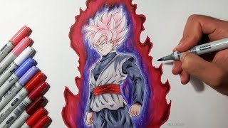 getlinkyoutube.com-Drawing Goku Black SUPER SAIYAN ROSE