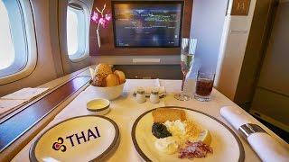 getlinkyoutube.com-THAI Airways - Royal First Class - Europe to Australia