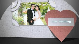 Intro Wedding Paper Cover From Adobe After Effect to Proshow Producer 6
