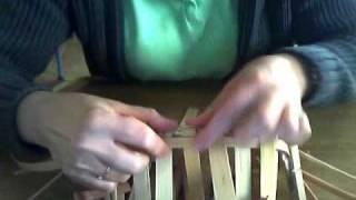 getlinkyoutube.com-Basket Weaving Video #6--Weaving the first two rows