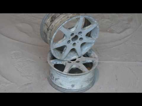 Пескоструйная очистка автомобильных дисков
