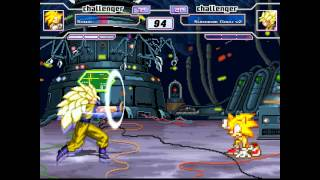 getlinkyoutube.com-Mugen: Super Sonic Vs.  Super Saiyan 3 Goku