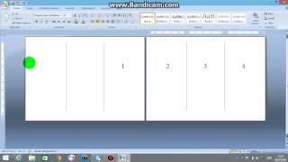 วิธีการทำแผ่นพับ ด้วยโปรแกรม Microsofe office word  2007