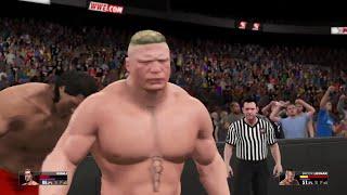 WWE 2K15-  Brock Lesnar vs Great Khali Fall Count Anywhere  Match (PS4) width=