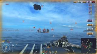 getlinkyoutube.com-World of Warships: Iowa versus 12 Hoshos