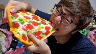 getlinkyoutube.com-超巨大ピザグミ食べてみた!