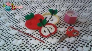getlinkyoutube.com-كروشيه ابليك على شكل نصف تفاحه  How to make aHalf apple crochet