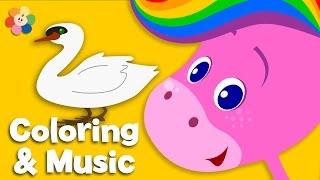 getlinkyoutube.com-Animals | Coloring and Music | Rainbow Horse | BabyFirst TV