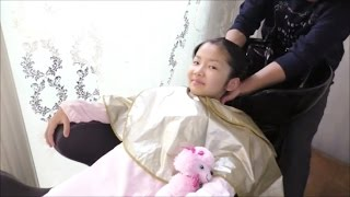 getlinkyoutube.com-★hair salon「shampoo&hair cut」★美容室でシャンプー&ヘアカット★