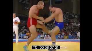 getlinkyoutube.com-Alexander Karelin vs Thomas Johansson - Barcelona 1992