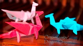 getlinkyoutube.com-Cara membuat origami naga 3D dari kertas lipat