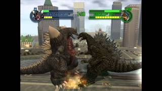 getlinkyoutube.com-Godzilla: Save The Earth - Space Godzilla VS. Godzilla 90's (EPIC MATCH)