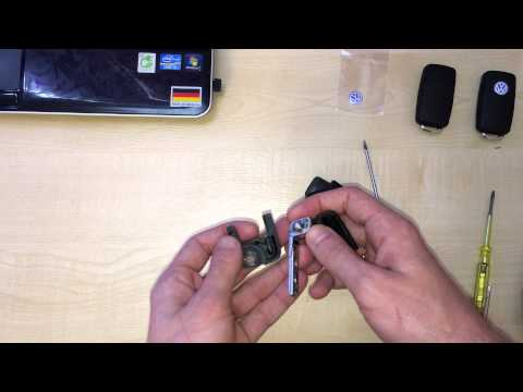 Как разобрать ключ VW